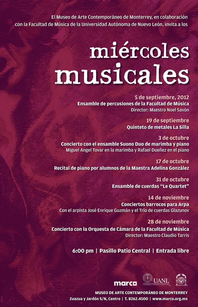 Miércoles musicales en MARCO | Gusto por la historia